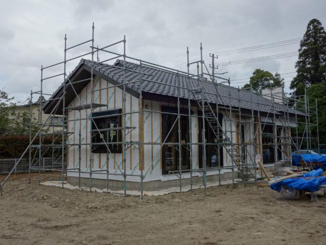 長生郡睦沢町で平屋建て工事進行中